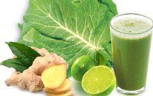 Suco Detox de Couve Com Limão e Gengibre Para Afina a Cintura